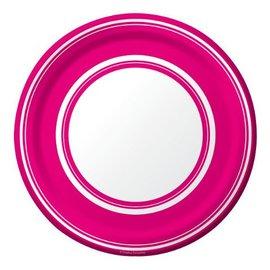 Plates-BEV-Hot Magenta Stripe-8pkg-Paper (Discontinued)