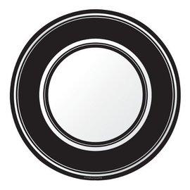 Plates-BEV-Black Velvet Stripe-8pkg-Paper (Discontinued)