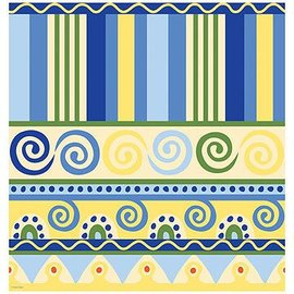 Tablecover-Rectangle-Mediterranean Pottery-54''x108''-Plastic (Discontinued)
