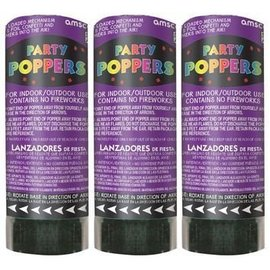 Confetti poppers-Purple-3pkg