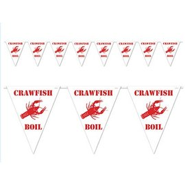 Pennant Banner-Plastic-Crawfish Boil-1pkg-12ft