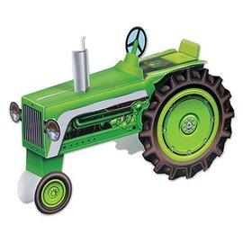 "Centerpiece-Green Tractor-1pkg-8.5"""