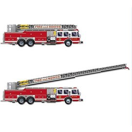 Jointed Cutout-Fire Truck with Ladder-1pkg-5ft