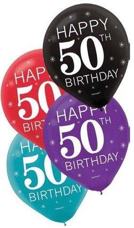 Balloons Latex 50th Birthday 12 15 Pk