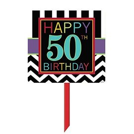 Sign-Yard- Happy 50th Birthday-14'' x 25''