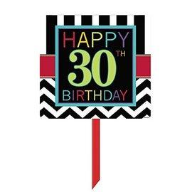 Sign-Yard- Happy 30th Birthday-14'' x 25''