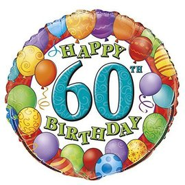 "Foil Balloon - 60th Birthday - 18"""