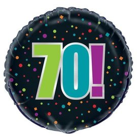 "Foil Balloon -70th Birthday Cheer - 18"""