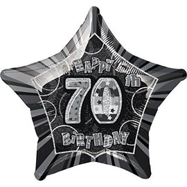Foil Balloon - Happy 70th birthday - 20""