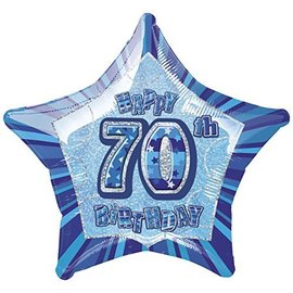 "Foil Balloon - 70th Birthday - 20"""