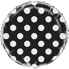 "Foil Balloon - Dots - Midnight Black - 18"""