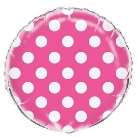 """Foil Balloons - Dots - Lovely Pink - 18"""""""