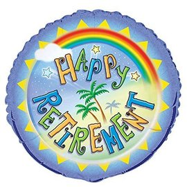 "Foil Balloon - Happy Retirement - 18"""