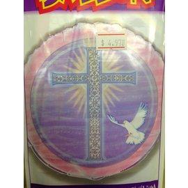 """Foil Balloon - Cross - Pink - 18"""""""