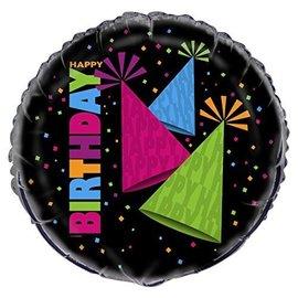 "Foil Balloon - Neon Party Hats - 18"""
