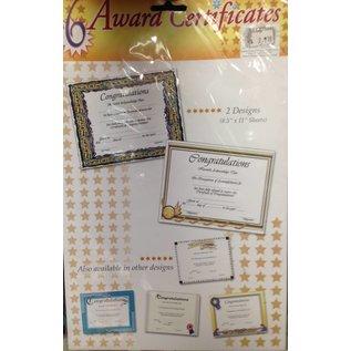 Award Certificate-6pk