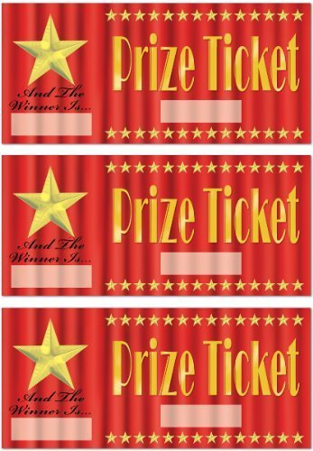 Prize Tickets Hollywood 30pcs 5 Victoria Party Store