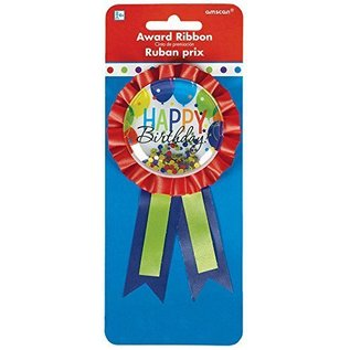Award Ribbon-HBD Balloon-w/ Confetti