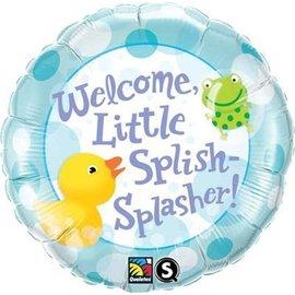 """Foil Balloon - Welcome Little Splish - Splasher - 18"""""""