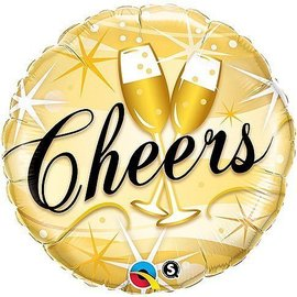 """Foil Balloon - Cheers Toasting Glasses - 18"""""""
