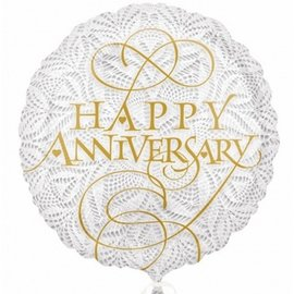 """Foil Balloon - Lacey Happy Anniversary - 18"""""""