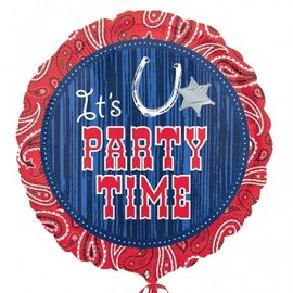 Foil Balloon - It's Party Time - 18""