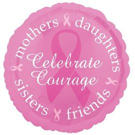 Foil Balloon - Celebrate Courage Pink Ribbon - 18""