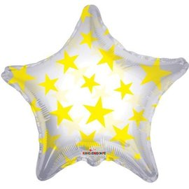 Foil Balloon - Yellow Stars - 22""