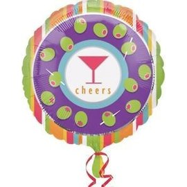 """Foil Balloon - Cheers Cocktail Party - 18"""""""