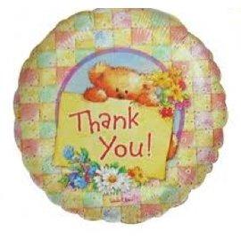 "Foil Balloon - Thank You Bear - 18"""