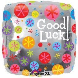 Foil Balloon - Good Luck Bubble Burst - 18""