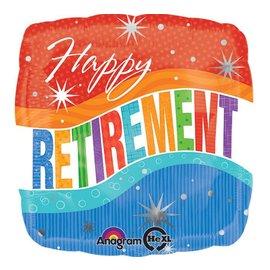 "Foil Balloon - Happy Retirement Celebration - 18"""