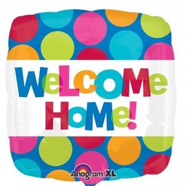 Foil Balloon - Welcome Home Dots - 18""