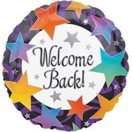 Foil Balloon - Welcome Back Stars - 18""