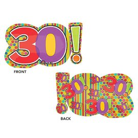 """Foil Balloon - 30th Dots and Stripes - 29"""""""