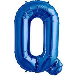 Foil Balloon - Blue Q - 34''