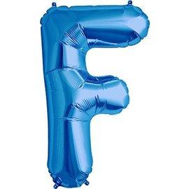Foil Balloon - Blue F - 34''