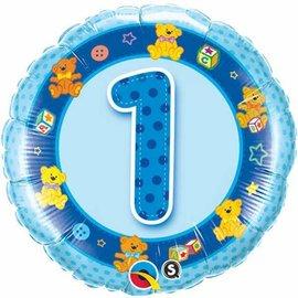 """Foil Balloon - Blue Teddies #1 - 18"""""""