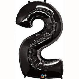 "Foil Balloon - Black #2 - 34"""