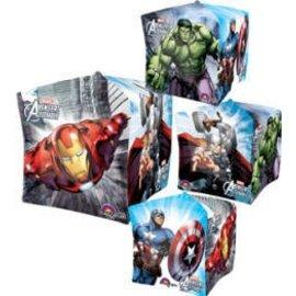 "Foil Balloon - Cube - Avengers - 15""x15"""
