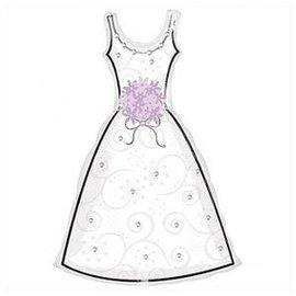 "Foil Balloon - Bride Dress - 36""x24"""