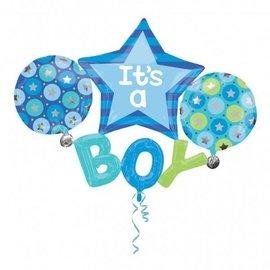 "Foil Balloon - It's a Boy Stars - 53""x39"""