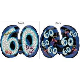"Foil Balloon - Oh No the Big 60 - 21""x26"""
