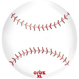 "Foil Balloon Orbz- Baseball - 15""x16"""