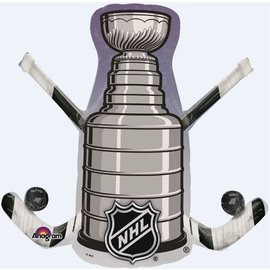 "Foil Balloon - NHL Stanley Cup - 29""x28"""