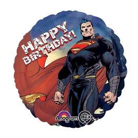 "Foil Balloon - Superman Happy Birthday - 18"""