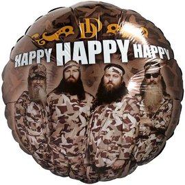 "Foil Balloon - Duck Dynasty Birthday - 18"""