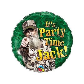 Foil Balloon - Duck Dynasty Party Time - 18""