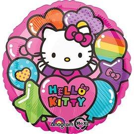"""Foil Balloon - Hello Kitty Rainbow - 18"""""""