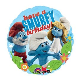 Foil Balloon - Have a Smurfy Birthday - 18""